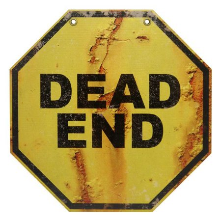 Placa de Madeira Decorativa Dead End