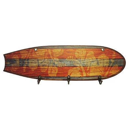 Cabideiro de Parede Prancha de Surf Flower