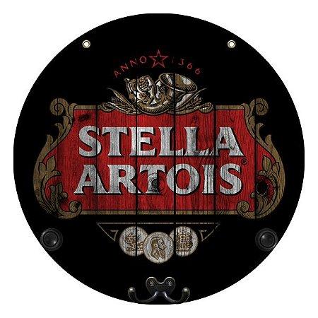 Placa Stella Artois com Cabideiro