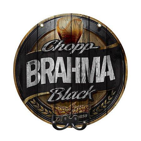 Cabideiro de Parede Decorativo Brahma Black