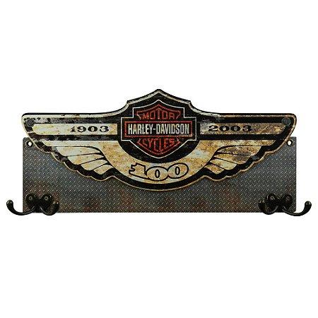 Cabideiro de Parede Harley Davidson Motor Cycles