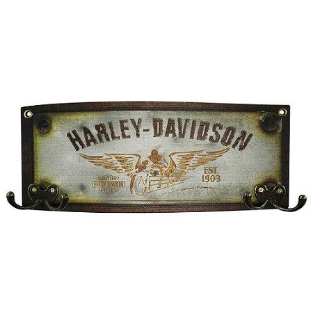 Cabideiro de Madeira Harley Davidson