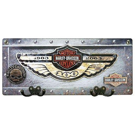 Cabideiro de Parede Harley Davidson de Madeira