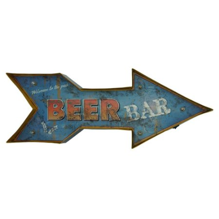 Placa De Metal Bar com Luzes de LED