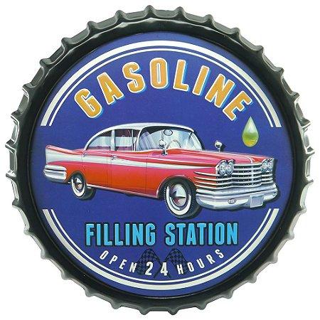 Tampa Decorativa Gasoline Station