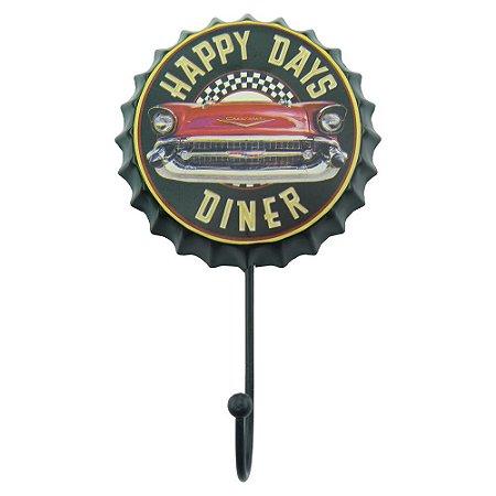 Cabideiro de Parede Tampa Happy Days