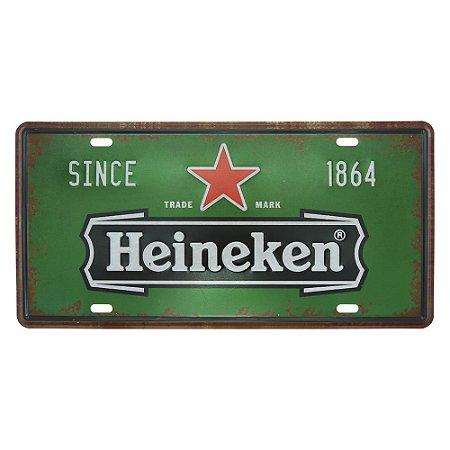 Placa de Metal Heineken