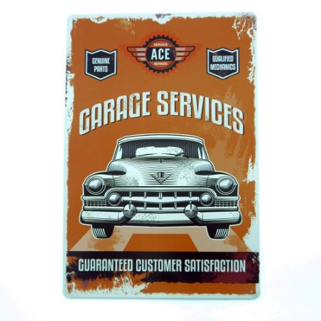 Placa de Metal Ace Car
