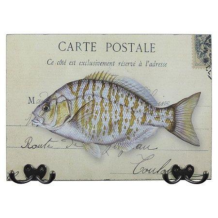 Cabideiro de Parede Peixe Carte Postale