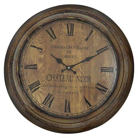 Relógio de Parede Rústico Château Noir