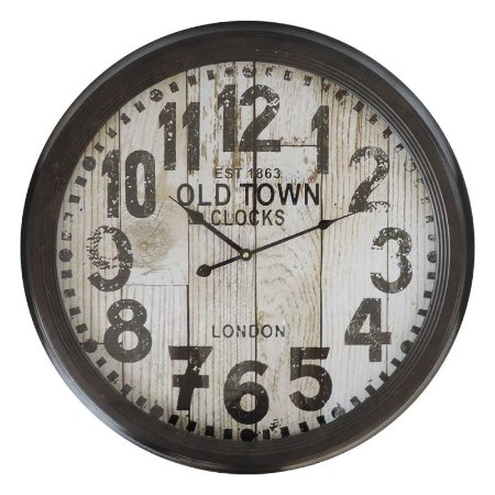 Relógio de Parede Old Town Vintage