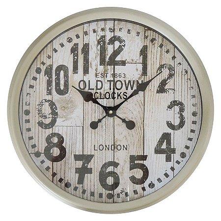 Relógio de Parede Rústico Old Town