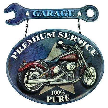 Placa Moto Garage