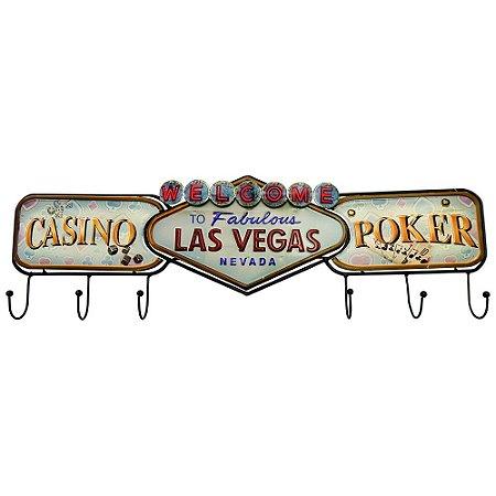 Cabideiro de Parede Cassino Poker