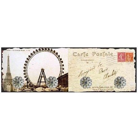 Cabideiro de Parede de Vidro Cartão Postal