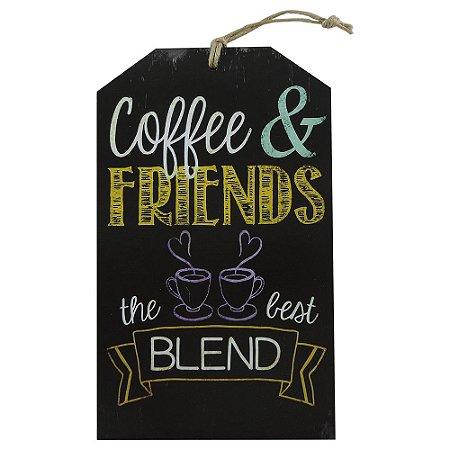 Decorativo Tag Parede Coffee Friends
