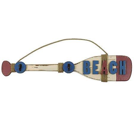 Decorativo Náutico Remo Beach Azul e Vermelho