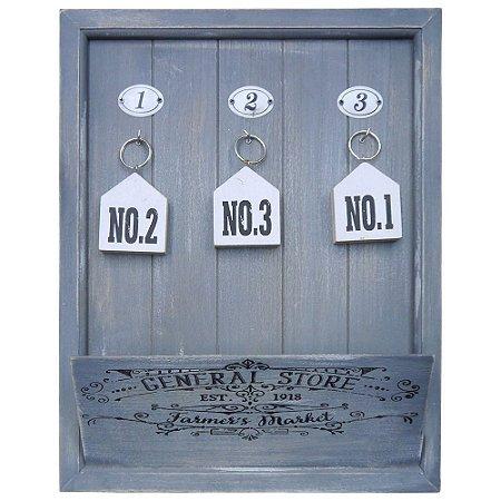 Porta Cartas 3 Chaves