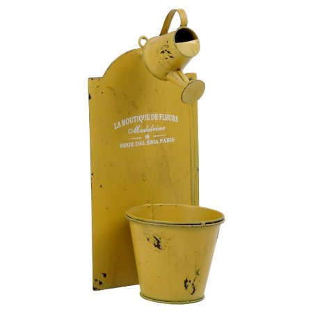 Vaso de Metal estilo Regador Amarelo