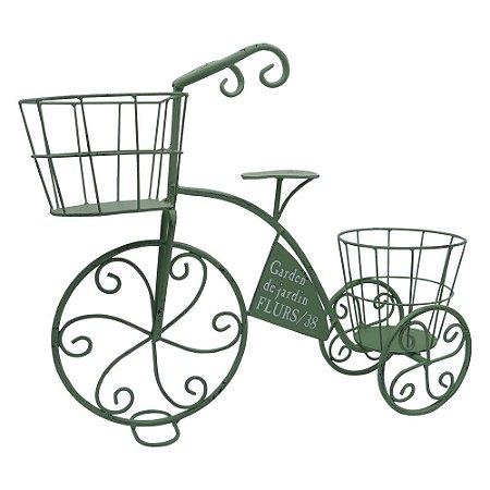 Porta Flores Bicicleta Rústica