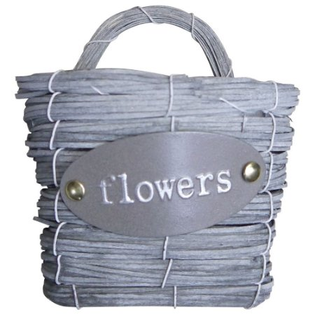 Vaso Cesta Flowers Média