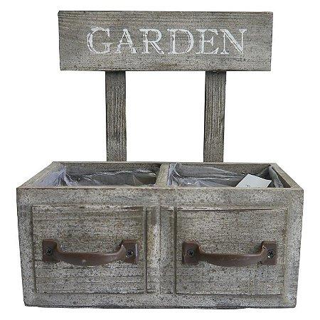 Vaso de Madeira Gaveta Garden Rústico