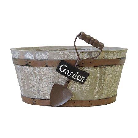 Vaso de Madeira Tina Garden Média