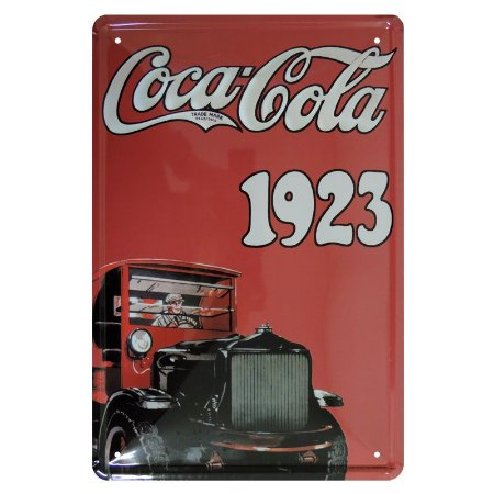 Placa Decorativa de Metal Coca 1923