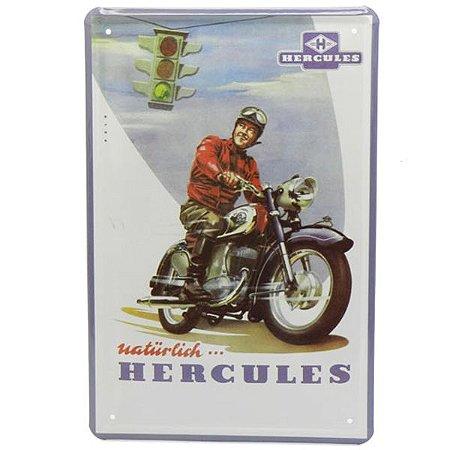 Placa Metal Hercules