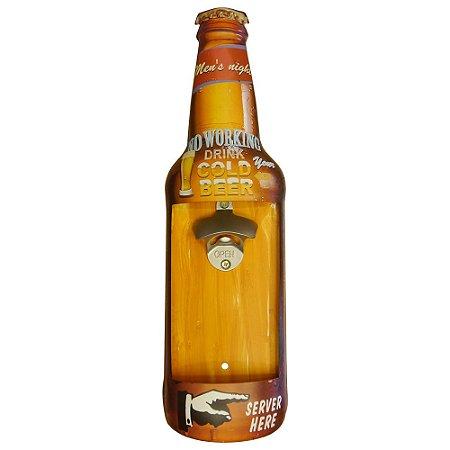 Abridor de Parede de Metal Gold Beer