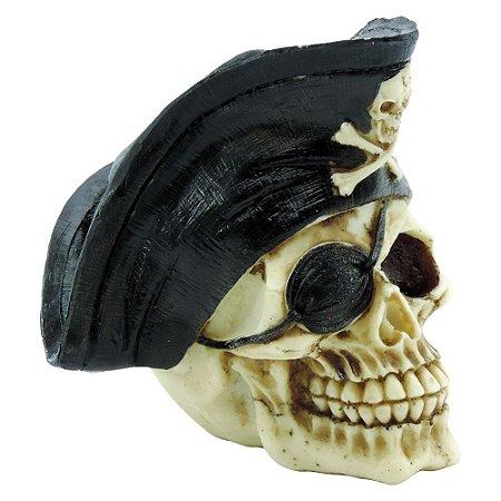 Caveira Decorativa Pirata