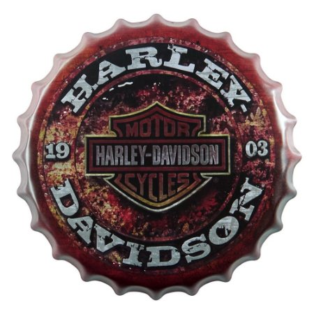 Tampa Decorativa Harley Davidson Cycles
