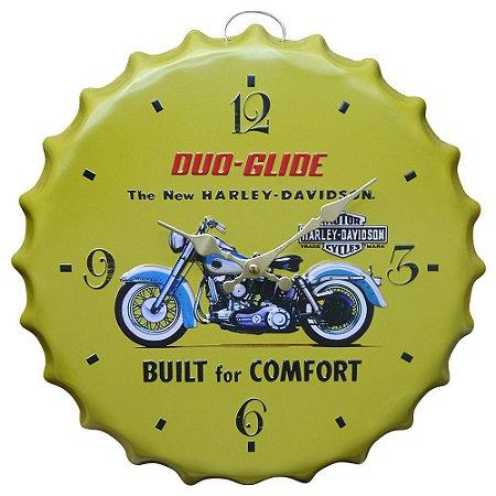 Relógio de Metal Harley Davidson