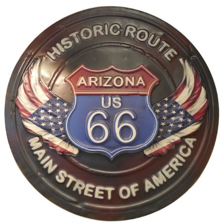 Decorativo de Metal Historic Route 66