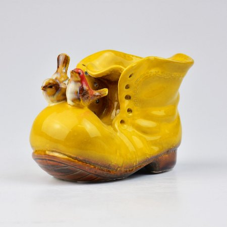 Vaso de Cerâmica Bota Amarela