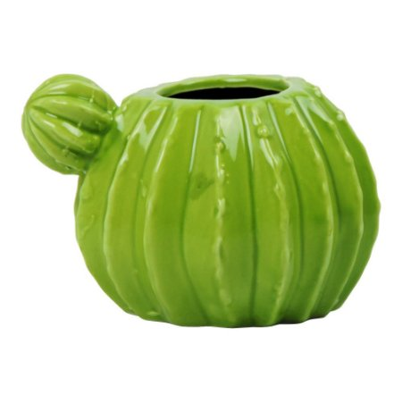 Vaso de Cerâmica Cactos Verde