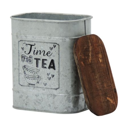 Lata de Metal Prata Tea