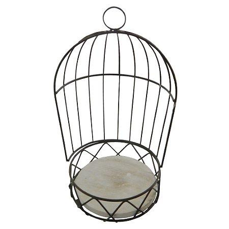 Porta Vaso Gaiola de Metal