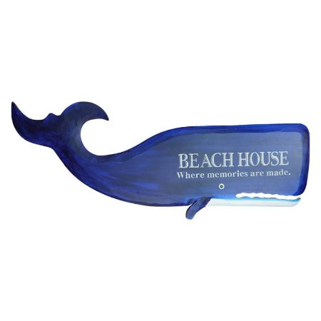 Decorativo Beach House Baleia de Madeira