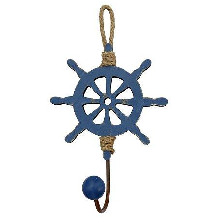 Cabideiro de Madeira Timão Azul Marinho
