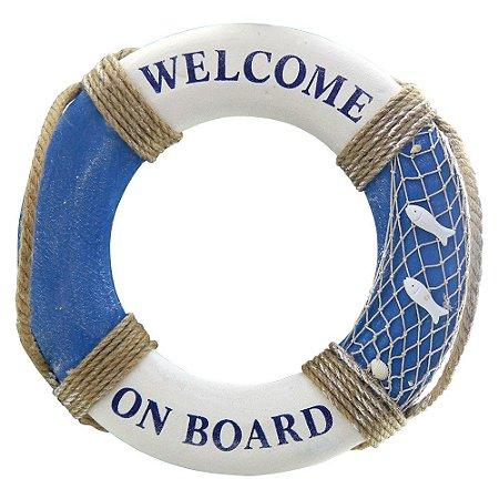 Bóia Decorativa Welcome on Board 50cm