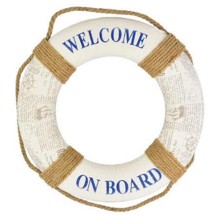 Bóia Decorativa Welcome on Board Branca