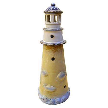 Decorativo de Cerâmica Farol Azul
