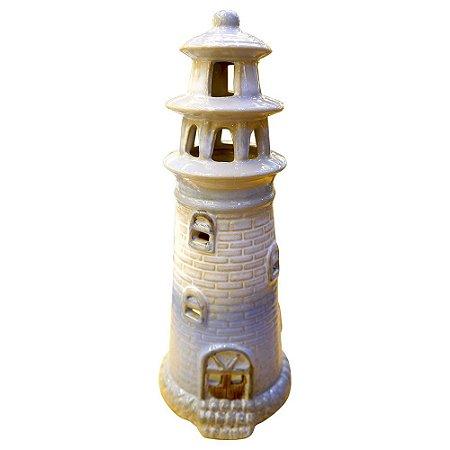Porta Vela Farol de Cerâmica