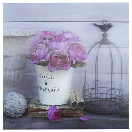 Quadro de Parede 3D Rosas