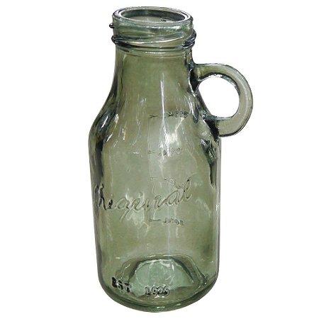 Vaso de Vidro Preto estilo Garrafa