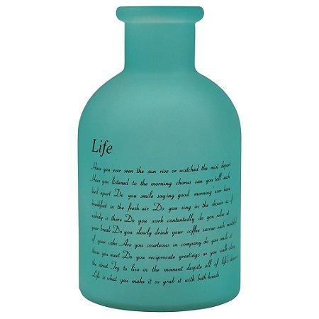 Vaso de Vidro Fosco Life Verde
