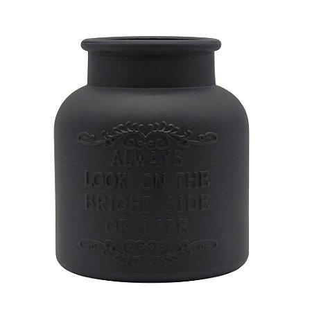 Vaso de Vidro Preto Fosco