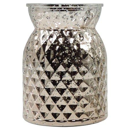 Vaso de Vidro Prata