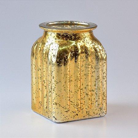 Vaso de Vidro Dourado G